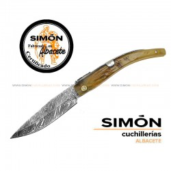SIMÓN Damascus Albacete Point Knife 030.193CA