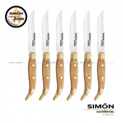 "SIMÓN ""Navaja"" Bull Steak Serrated Knives Set 123.066"