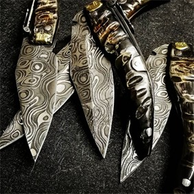 Instagram - Simón Cuchillerías Albacete - 18th Alpine Goat Point Knife. Acid engraving